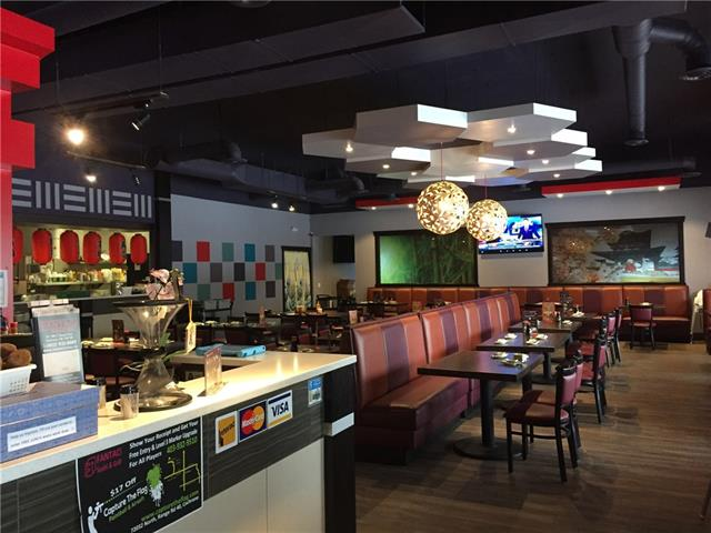 HUGH PRICE DEDUCTION FOR QUICK SALE. This well known Japanese Cuisine Restaurant is in the heart of downtown Cochrane. Beautiful setup and modern renovation. 4600 sf, 150 seats. Very good rent rate and lease term. Profitable and potential for more revenue. For more details, please contact realtor. Please DO NOT approach employees without appointment.