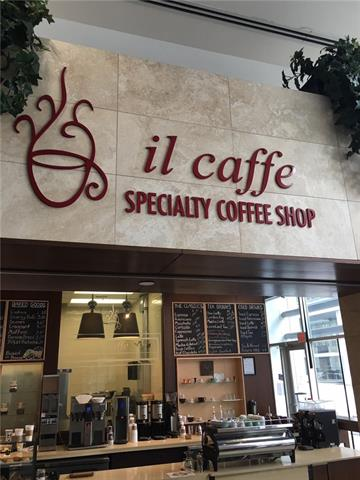 "Welcome to ""il Caffe"" located downtown core Penn West Plaza. This cozy modern business includes all high end coffee shop equipment, appliances and furniture with bakery. Wrap around sitting bar and patio seating for summer hours. Hours of operation are Mon-Fri 7-4 pm. Possibly be Free lease until end of Dec 2018 and inquire about the free lease space in building. Additional 700 sf of seating space that is free use."