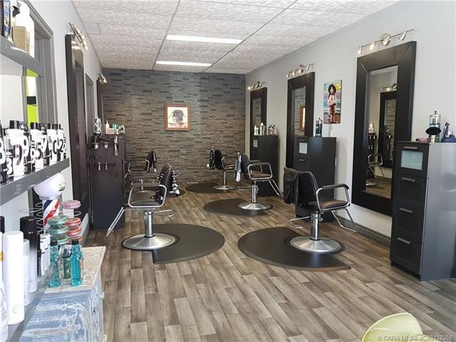 BUSINESS FOR SALE!  This Fabulous well established Hair and Nail salon has been at this location for over 6 years!  Price includes clientele list, signage , equipment and more. Excellent visibility, accessibility and near other amenities. Owner managed for 6 yrs with full time staff. Décor and renovations are outstanding in this 1500 sq.ft. Hair salon. Turn key operation ready to take to the next level w/ 5 styling stations, also separate wash area, laundry and storage room, coffee area ,nail room as well as 2 other private rooms for expansion .Large amount of supplies also included. Renter pays own utilities. Rent includes snow removal and garbage. Paved parking area in front of business. This is the opportunity that you have been waiting for!  Space is leased.