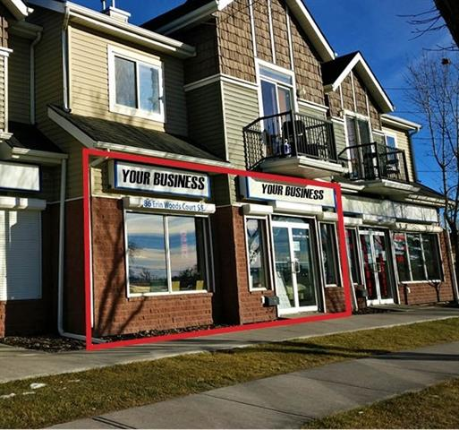 Ideal for retail and consumer service, office professionals or light storage, etc.  Fronting 36 Street and near the intersection of Peigan Trail in the community of Erin Woods. Close to school, Petro gas station, residential heavy and on bus route. One stall included with unit and additional six common retail dedicated customer parking stalls, 14 guest stalls shared within the court.  Wide 26ft store frontage on 36 street.  Accessible washroom available in the unit.  Existing ceramic tile flooring.  One room/office built out. Leasehold improvements including air conditioning, roll-up metal security shutters, Hunter Douglas window coverings, alarm and more.