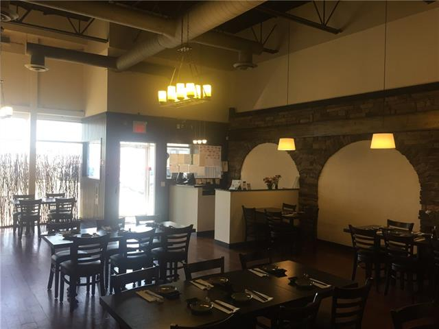 Located in Premier retail mall in NW Calgary. Recent Renovated restaurant with 76 seats (approved 100 seats) on a busy traffic access. Large bar, high ceilings, wooden floors, fully equipped commercial kitchen. All viewing by appointment only please do not approach the staff. Thanks