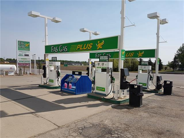 EASY OPERATION. ONLY 40 MINUTES FROM CALGARY.  LOTS OF POTENTIAL. FACED WITH THE MAIN HIGHWAY. GAS STATION, CONVENIENCE STORE AND LAUNDROMAT (5 WASHING MACHINE AND 8 DRYER). THREE UNDERGROUND FIBER GLASS TANK. THERE IS AN EMPTY SPACE NEXT TO THE CONVENIENCE STORE, WHICH CAN BE RENTED OR BE THE OTHER BUSINESS SPACE.