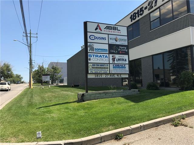 3,400 sq,ft of corner renovated front office with mezzanine warehouse bay for lease. Suitable for shops and storage use. Bay has rear drive-in loading door. Quick access to Deerfoot Tr, 32 Ave, McKnight Blvd. parking  available at front and back of the building. Lease rate $10.00 per/sf and op cost $5.50 per/sf. Easy to show, possession available immediately.