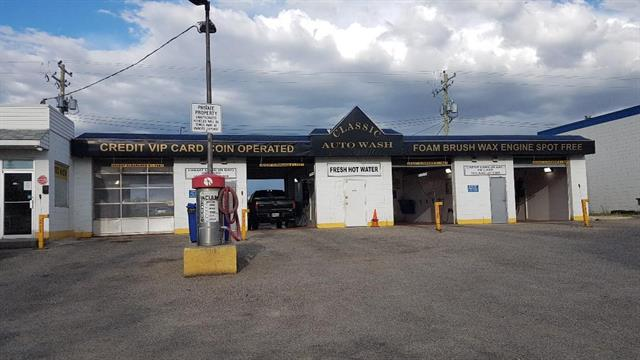 This nicely upgraded CAR WASH is located in SE Calgary (Southview/Forest Lawn area), one block south of 17th Avenue (International Avenue). There are 4 self-serve, wand-wash, multi-door bays, 2 dog wash stations, an office, and a washroom with storage area. Lots size is 12,325 sq ft. Bays accept payment by credit cards or coins. Over $120k in recent improvements, including: polyaspartic flooring, white plastic wall panels, 20 ft radiant heaters, LED lighting (interior and exterior), Exacta upgrade with new coin-counter mechanisms, new water softner and so much more! This car wash is fully staffed with a 2018 tax assessed value (land & building only) of $1.3 Mil. Great property to continue to operate as a self-serve wand-wash, to install a state-of-the-art touchless wash, to redevelop or to hold while property values in this area continue to soar. Currently zoned C-COR2 f1.012, possibility to rezone to MU-1.  Please do not approach staff or customers regarding the sale of this property.
