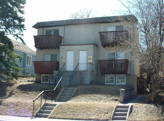 [1815 ? 28 Avenue SW] Attention BUILDERS / DEVELOPERS / INVESTORS ! Offered along with 1811 ? 28 Ave SW (MLS #4202411, $499,000), this combined site represents a total of almost 10,000 sq. ft. (79x125 feet) of M-C1 land in rapidly-redeveloping Marda Loop/South Calgary; Located around the corner from prominent art-hub & luxury residential King Edward School (cSpace) redevelopment site, which can only benefit property values for this area !; Up to 13 units possible w/ great potential for roof-top patios & downtown views; Comes with architect-designed plans for a high-end 8-unit townhouse development (no DP in place); Combined site features a bungalow & multi-unit building (on 2 titles) which generate $62,000 gross per annum (with room to move up); Considering the strong rents on both properties, this could be an excellent leveraged Buy, Hold & Develop property! (To be sold with 1811 ? 28 Avenue SW; Call for extra details or to view plans; Please do not disturb tenants; showings will be arranged with offers)