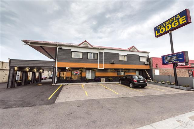 Great opportunity to own Land, Building with Business.The 2-storey 33 unit motel flares a very modern style with spacious king, queen or 2-double bed Family rooms. Plus One Large Bedroom Manager/ Owner suite. It is conveniently located along the busy Trans Canada highway, which runs West to East coast Canada and is the gateway to the Rocky Mountains drawing visitors of all ranges from business travels, family outings to international sightseers. It is also near the Canada Olympic Park, the major ski hill of Calgary, which draws in an abundance of tourists in the winter months. Very close to Foothills hospital, local eateries and 24 hour businesses.  Land parcel  size is 21,560 sq ft and Land Use code is C-COR2 ! Please do not approach staff and don't show up without prior written consent form the Listing Agent.