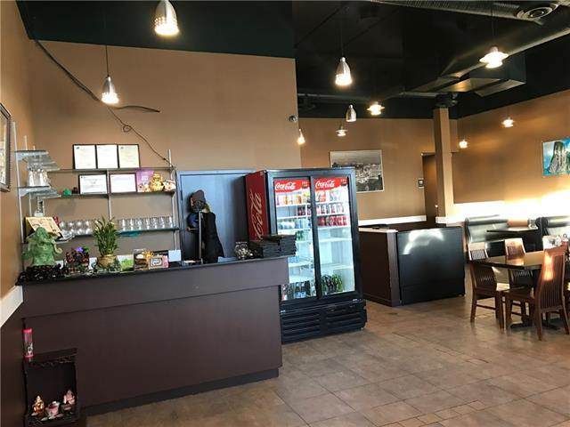 Turn key ready, fully licensed Vietnamese restaurant serving delicious food with great Google reviews.  Space is 2,080 sf with full liquor license and seating capacity of 50 people.  Nestled in the middle of destination plaza, just off Trans-Canada 1 Highway in Strathmore.  This restaurant has a great layout with a fully functional commercial kitchen with 16 feet canopy, all cooking equipment, walk-in cooler and freezer.  Rear door at back of business allows for ease of unloading inventory.  Easy to manage with minimal staff (2 FT/2 PT) and perfect for family or partnership ownership. Neighboring anchors is Supermarket, Gas Bar, liquor store, Canadian Tire, Rogers, bank and more.  Lease expires in 2019, with option to renew for 2 (5 year) terms. Seller is willing to train the buyer or may convert to other food concepts, pending landlord approval. Please give 24 hours? notice, DO NOT APPROACH STAFF