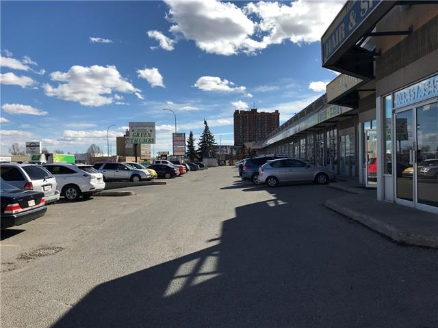 858 sq,ft Retail space for lease located on busy MacLeod Tr SW. Was buying and selling Gold, Jewelry, Platinum, Diamonds. Low rent. This retail space can be various use subject to landlord approval.