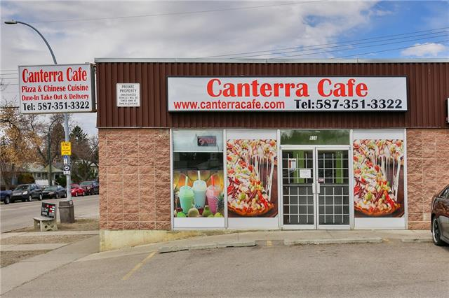 Location ! Location ! Location ! ONLY  $150,000.00 and comes with complete commercial restaurant kitchen. Almost 1600 sq.ft. $2887 rent per month including common area costs. High visible exposure location.  Surrounded by Schools and Residential Areas. Great opportunity to own and operate this Canterra Cafe that's serving Pizza and Chinese food. Ideal for any business concept you may have. 7-11 and other business near by. Near by amenities are grocery stores, cafes, restaurant, parks and much more. Close to