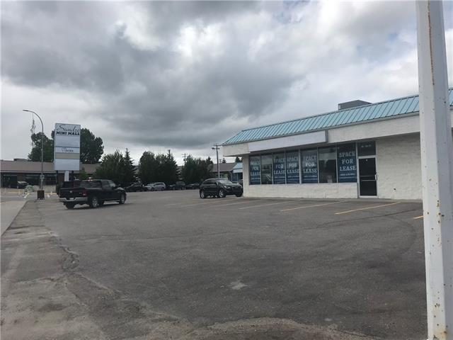 Prime downtown retail Strip Mall. At the heart of Sundre (Main Avenue & Centre Street).the first property as you enter the town of Sundre ,  best layout mall with ample parking and a drive through for AAA tenants (fast food etc) 26000 cars drive by daily ,