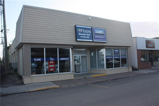 This recently renovated building is located in the downtown core of Olds less than 100 meters from the main downtown intersection. The space is currently occupied by a floor covering store and leases out the front office space to another Real Estate office. Space includes a large front showroom, 2 offices, a staff room with utility sink, 2 pc washroom, and a rear warehouse with 7x8 overhead door. A 44 ft x 29 ft parking lot is located behind the building. Recent renovations were completed in the summer of 2017 and considerable roof repair was completed in 2014. Building is serviced by O-net High Speed fibre optics internet and phone. For purchase opportunities please search MLS listing #C4268431. Triple Net Lease.