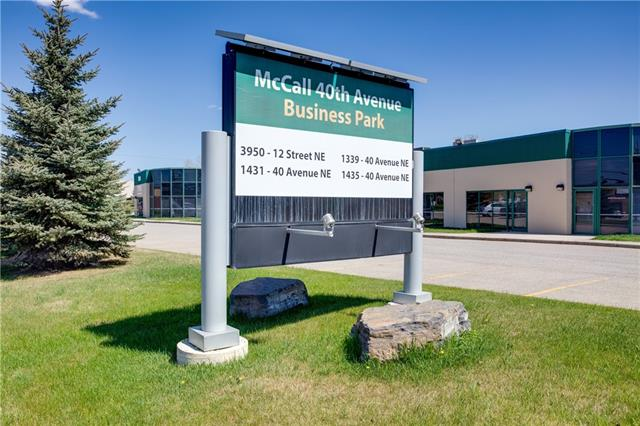 Welcome to McCall 40th Business Park offering excellent exposure to major thoroughfares with quick access to all major arteries within the City of Calgary. Multiple units available in sizes ranging from 1,566 sqft to 7,444 sqft with various sizes available in between. Built in 1999 & 1991, these I-G Zoned buildings were renovated in 2016 and feature 17ft - 22ft clear ceiling heights, Drive in loading facilities - typically 12ft H X 14ft W doors, 1 per bay, 17ft - 22ft clear ceiling heights, with individual water heater. Parking is nationally allocated and shared amongst units at 1.79 stalls per 1,000 sf.