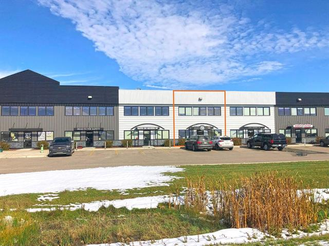For Sale small industrial condo bay in Sheppard Industrial  Could be sale/lease back for up to 3 years for investor. Excellent improvements, reception, 4 private offices  Air conditioned office space. Sump in shop  Private dedicated yard area behind bay.  Quick access to Stoney Trail and Glenmore Trail.