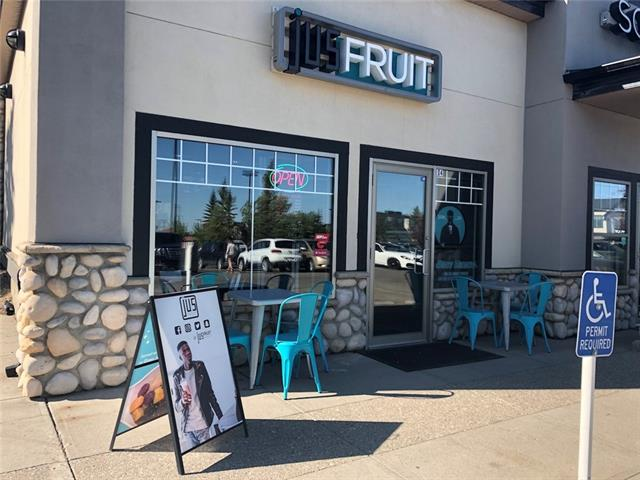 This is a beautifully decorated, very clean franchise juice & snack shop, located in the trendy busy Signal Hill&17ave  area, lots of foot traffic, close to C-train station. Features1,367 sf, 35 seating capacity, new commercial kitchen, rent about $7,500/mo, LEASE still 2years with 5 years option. It could be converted to other food service upon landlord approval. Great opportunity for family business. All viewing by appointment only. Thanks!