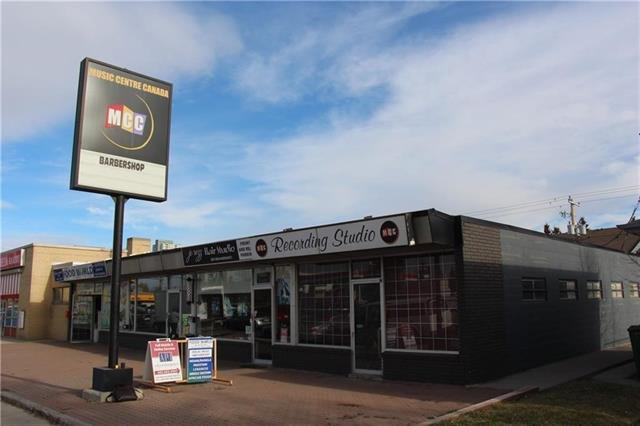 WHAT A GREAT LOCATION TO START OR EXPAND YOUR BUSINESS! Offering great rates and incentives. Here is an opportunity to lease a space at the CORNERS of KILLARNEY, GLENDALE AND ROSSCARROCK! Just steps away from the intersections of 17TH Ave and 37TH Street SW and only 400 meters from the WESTBROOK LRT Station. There are over 16,000 households within a 2KM radius with a median income of $74,720 and AVERAGE age of 35. There is an excellent TRAFFIC COUNT with 25,000 cars daily (2014) at the intersection. This plaza offers PYLON signage on 37th Street and storefront signage too. MORE then sufficient DEDICATED PARKING, COMMON PARKING AND STREET FRONT PARKING TOO. Endless opportunities with Mixed Use Land Use which includes retail, professional services and office users. This is the spot to start or expand your business at the heart of the SW.