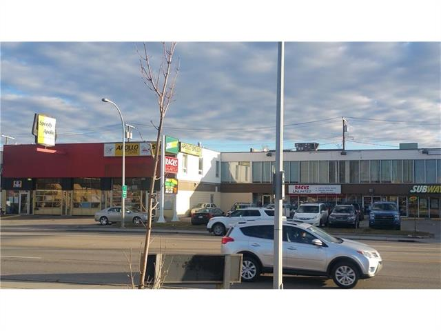 Great location on Commercial Corridor District on 16th Ave NW. Close to COP, University of Calgary, Bow River, DT Calgary, and Sarcee TR. Many restaurants, coffee shops, parks, and amenities are nearby. Unit 201(1,912 sq.ft) fits for church and more. Unit 202(970 sq.ft), Unit 203(971 sq.ft), Unit 204(904 sq.ft), total continuous size is 4,410 sq.ft fit for accounting office, financial services, or insurance services. Operating cost is $4.5/sq.ft. Assigned parking is available.