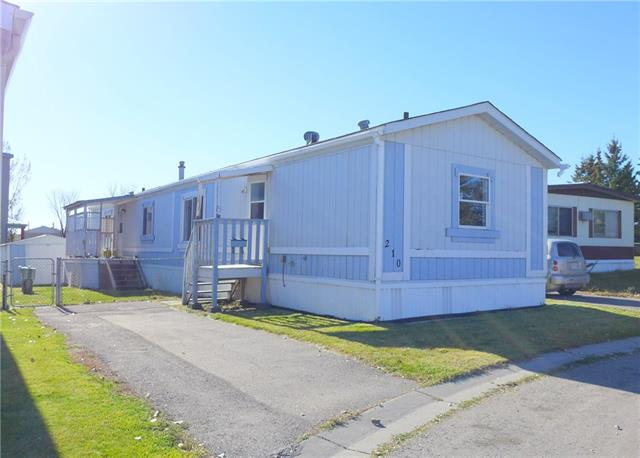 Location! Location! This 16x76 mobile home is on a small quiet cul de sac w/easy access to pathways that take you to club house.High vaulted ceilings & lots of windows for great lighting. Huge livingrm w/big window & ceiling fan.Kitchen has a eat at bar & dining area w/built in cabinetry. Above kitchen sink area is a sky light. Home has lots of room to move around in if you have a big family gathering or you just like space. Master bedroom has a walk in closet & a full 4pc. ensuite. At the other end of the mobile home are two other bedrms & another 4pc bathrm.Washer & dryer area are tucked into where your back door is.South backyard is fenced & has a storage shed.Large one parking stall off street next to the mobile. Home recently had new water lines & heat tap w/its own automatic thermostat, leveled, re-graveled & new skirting.Lot fees include water,sewer,garbage pick up,recycle & snow removal.Clubhouse has a gym,hot tub,sauna,kitchen/banquet room.Chateau Estates is close to Walmart,Costco and amenities.
