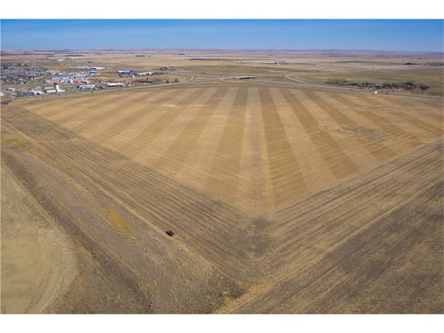 ATTENTION investors, developers, business owners- a RARE OPPORTUNITY to purchase 139.19 acres of PRIME + UNDEVELOPED land WITHIN the CITY LIMITS of HIGH RIVER bordering onto HWY 2 + 12 AVE! AMAZING exposure w/highway traffic on 2 sides of the parcel of land + CLOSE to shops, hotels, schools, businesses + more! QUICK highway access means EASY ACCESS to Calgary + beyond! This land DID NOT flood + currently has approx $50,000 per year revenue income from crops + signs. High River is OPEN for business! The current Council + Planning department are working hard to review all bylaws + zoning to allow businesses to operate throughout the entire town. This piece of property is currently proposed to be allowed for mixed use development on a potential ratio of 90% commercial 10% residential. High River Advantage ? No Business tax, No Manufacturing + Equipment Tax + has an immediate access to major transportation corridor. Economic Development is a major part of Council's 2015-2017 Plan!