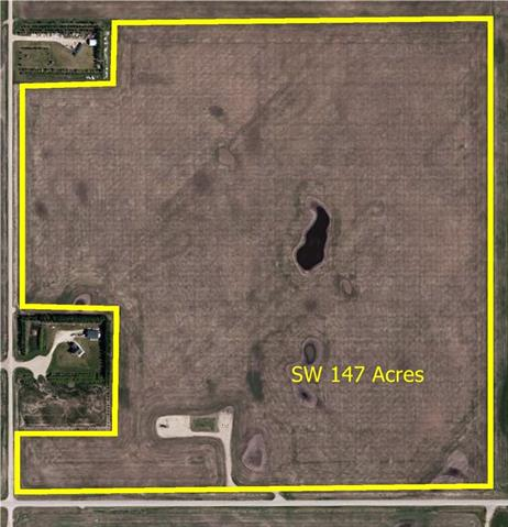 Great potential! 147.72 acres of land located close to Carstairs. Paved access. This land is situated within the Wessex Area Structure Plan Medium Density which allows for further subdivision of the property. Build your dream home and/or sub-divide into parcels now or in the future. 144 acres are cultivated. Total income for 2017 was $19,120. Can't beat this investment opportunity!  Adjoining lands and buildings also available