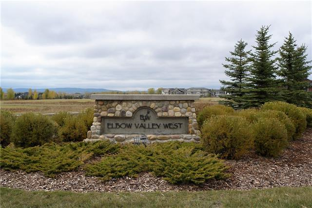 CITY OF CALGARY SEWER LINE CONNECTION IS NOW COMPLETE! Located just west of the Calgary City Limit you will find the remarkable community of Elbow Valley West. Easy access to all amenities including schools and shopping; 20 minutes to downtown Calgary and a short drive to our Rocky Mountain playgrounds. Lot 118 is a .3 acre reverse pie corner lot backing to greenspace. Contact listing agent for information regarding the community; building commitments; architectural controls and other lots available direct from the developer. Build your dream home in this boutique community! (Price includes GST.)