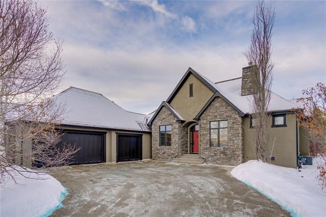 Check out our Matterport virtual tour where you can walk through the home in the comfort of your own home! Enjoy serene country living in beautiful Elbow Valley! Situated on a large, private lot, this beautifully updated home offers a total of 3 bedrooms & over 3,700 sq ft of living space. The main floor presents hardwood floors, 10? ceilings & is illuminated with pot lighting & stylish light fixtures, giving the home a light, airy feel. The open concept is ideal for entertaining featuring a living room with floor to ceiling stone fireplace (with full Nova Sit conversion) which is open to the well-appointed kitchen finished with granite counter tops, plenty of storage space, island/eating bar, casual dining area & stainless steel appliance package. A formal dining room (currently used as an office) is easily accessible from the kitchen. The master bedroom with access to the back deck is also located on the main level & boasts a walk-in closet & tranquil 5 piece ensuite with in-floor heat, dual sinks,