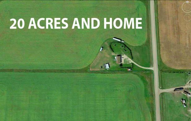 20.02 ACRES LAND IN CONRICH. WEST END BACKING ONTO COMMERCIAL AND INDUSTRIAL. SUITABLE FOR MANY TYPES OF USAGE. NICE 3 BEDROOM BUNGALOW MODULAR HOME OFFICE INCLUDED. FULL SERVICES, ELECTRICITY, NATURAL GAS, DRILLED WELL AND SEPTIC SYSTEM. MD ROCKYVIEW MUNICIPAL WATER CO-OP PIPELINE IS ALSO LOCATED ON PROPERTY.  NO SIGN ON PROPERTY. TOTAL OF 8.102 HECTARES OR 82620 SQUARE METERS OF FLAT LAND WAITING FOR YOUR DEVELOPMENT OR BUSINESS PLANS AND IDEAS. SELLER FINANCING MAY BE AVAILABLE ON A PORTION OF THE PURCHASE PRICE.  CONTACT FOR MORE INFO OR VIEWING ARRANGEMENT.
