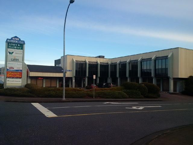 Located off South Fraser Way, this office building has space available from 860 sq.ft. to +/- 8,000. Spaces available on ground floor and second floor. Located in central Abbotsford, close to the intersection of South Fraser Way and Gladwin Road. Has underground parking and is walking distance to restaurants and malls.