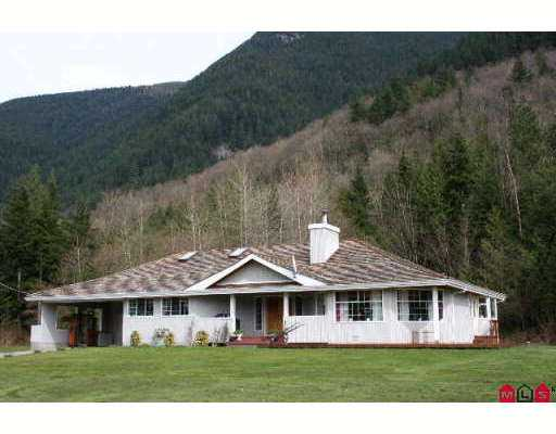 5.83 country acres with complete privacy. Room for truckers, shops, etc. Rancher  home with 3 bedrooms, 3 baths. Gorgeous open sunny location with mountains behi nd. 20x30 detached garage with loft. Attached 20x20 garage with c/port. Spectacular setting with the mountain backdrop. Bring your semi or double dumper, or plans for a large shop- you can do it all here. The detached shop needs finishing to suit your needs- garage doors, finish the loft. The double carport right in front of the  double garage is an incredible bonus- wash or work on your car here in the rain, then drive back inside. The home is in excellent condition, could use some fresh paint. 10 minutes NE of Mission.