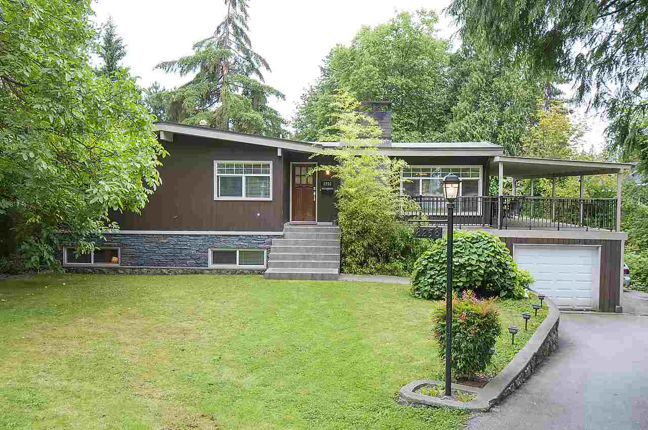 Government Road prestigious area in Burnaby North.  Excellent schools & only 5 min  drive to university and shopping.  A private living in the heart of the city.  Rare 88 x 180 lot & totally renovated home on a beautiful tree lined street.  Total of 5 bedrooms with a large media room, 2 fireplaces, new wood kitchen cabinet & bathroom feature, stainless steel appliances, gleaming laminate floor.  Brand new detached oversized workshop with wine cellar.  Large sundeck with gazebo & hot tub just off the kitchen.  Enjoy your own spa in the south facing all fenced in backyard.  Don't miss out! Can built a approx. 6400 sq ft home. Open House Sept 4 Sunday 2-4pm.