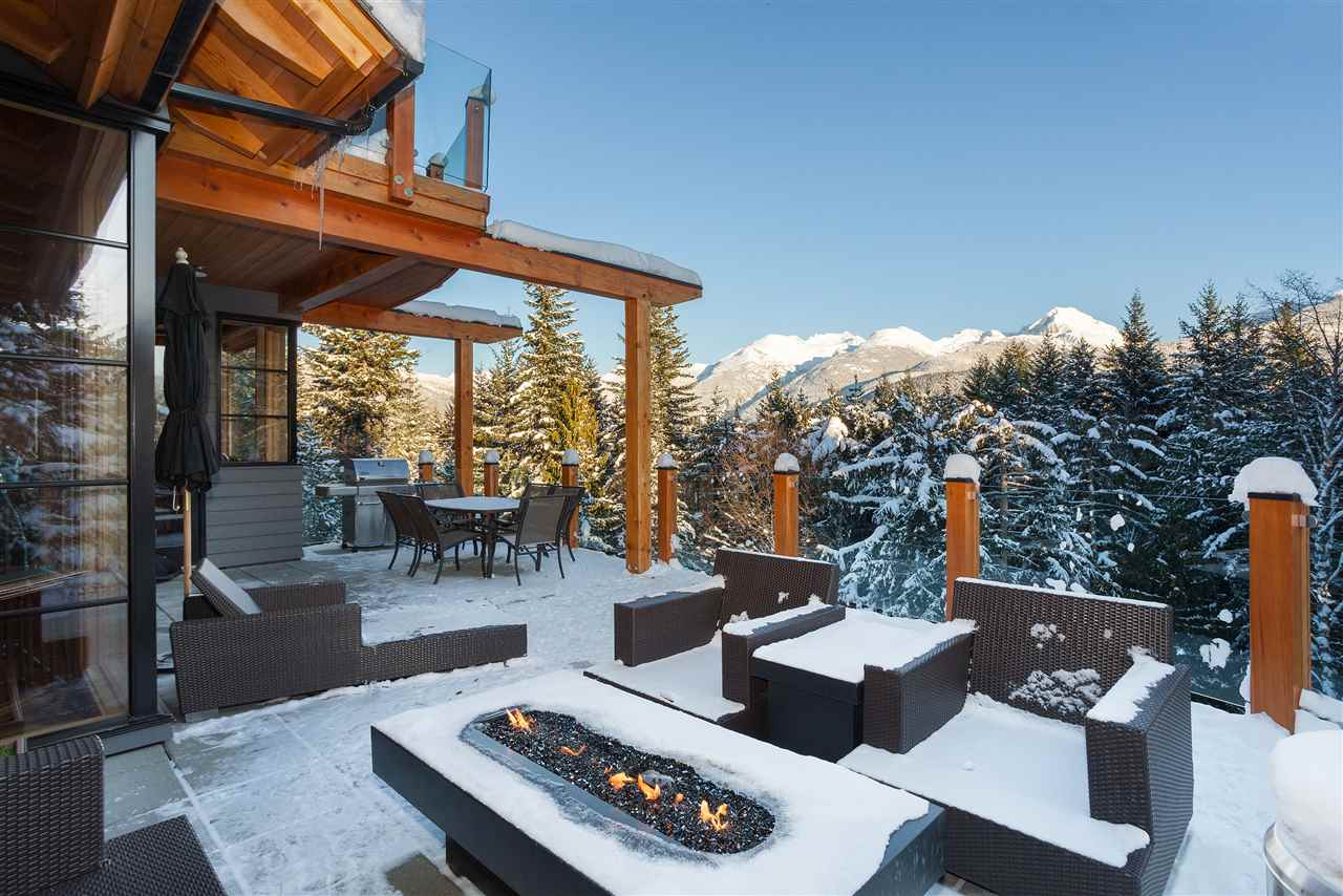A private builder's custom contemporary furnished turn-key luxury chalet. Incredible view, 2 hot tubs, large deck w bbq & fire table, amazing wine room, select art, vaulted ceilings w skylights, wood burning fireplace, media room w 4K projector & surround sound, dining table converts for pool/ping pong, chef's kitchen w breakfast bar, gym/yoga studio, steam shower, iPads & iPods throughout, boot warmers, heated garage & Control4 system for lighting, Sonos w speakers throughout, security/cameras & Nest thermostats all from your phone. Landscaping w sprinkler/irrigation systems. New nat gas line w plans for pool/cabana & wine cellar included. Buy smart: No strata fees, GST or foreign buyer's tax. Click MultiMedia for virtual tour. Close to skiing, golf, Meadow Park pool/rink, lakes & trails.