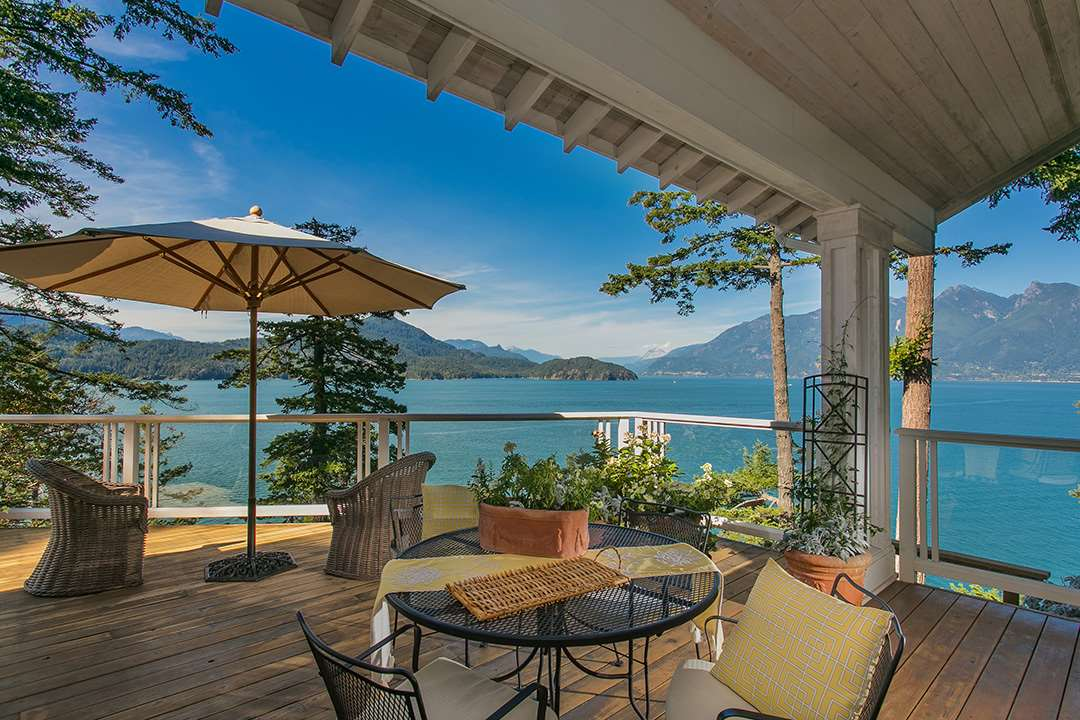 Open House  September 17th- 2pm-4pm Hood Point West is an exclusive community w/ endless views to Howe Sound, Gambier Island & the Mt. Garibaldi glaciers. 510 Smugglers Cove Rd fits seamlessly into its environment, set on 1.35 acres of lush landscaping & 300ft of shoreline. The 2,800 sf residence offers an open layout on 1 level of living and features vaulted ceilings, wide plank reclaimed fir heated flooring, 3 spacious bedrms, 3 bathrms, an office, & a gorgeous country kitchen w/ high end appliances & granite countertops. The entire main floor opens to the finest in outdoor living w/ over 1400sq.ft of wrap around decks providing quintessential views. This property is less than 1 hr away from Vancouver, accessible by road/boat & has its own private swimming bay & boat tie up to mooring.