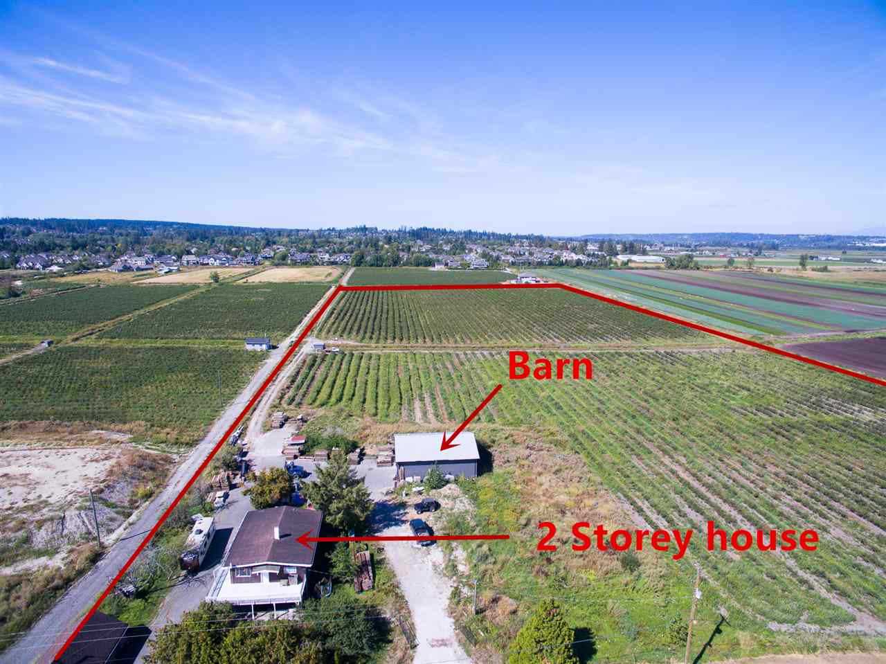 19 Acres Blueberry farm location behind Morgan Creek developments area in South Surrey, easy access to Highway #10 (56 Ave), Highway #99 and Highway #15 (176 Street). Minutes away from US - Canada Border crossing, White Rock beach. Perfect location to build your dream home as subject property is close to all amenities. Fully production blueberry annually, 2 storey house can be used as residential property or rental income.