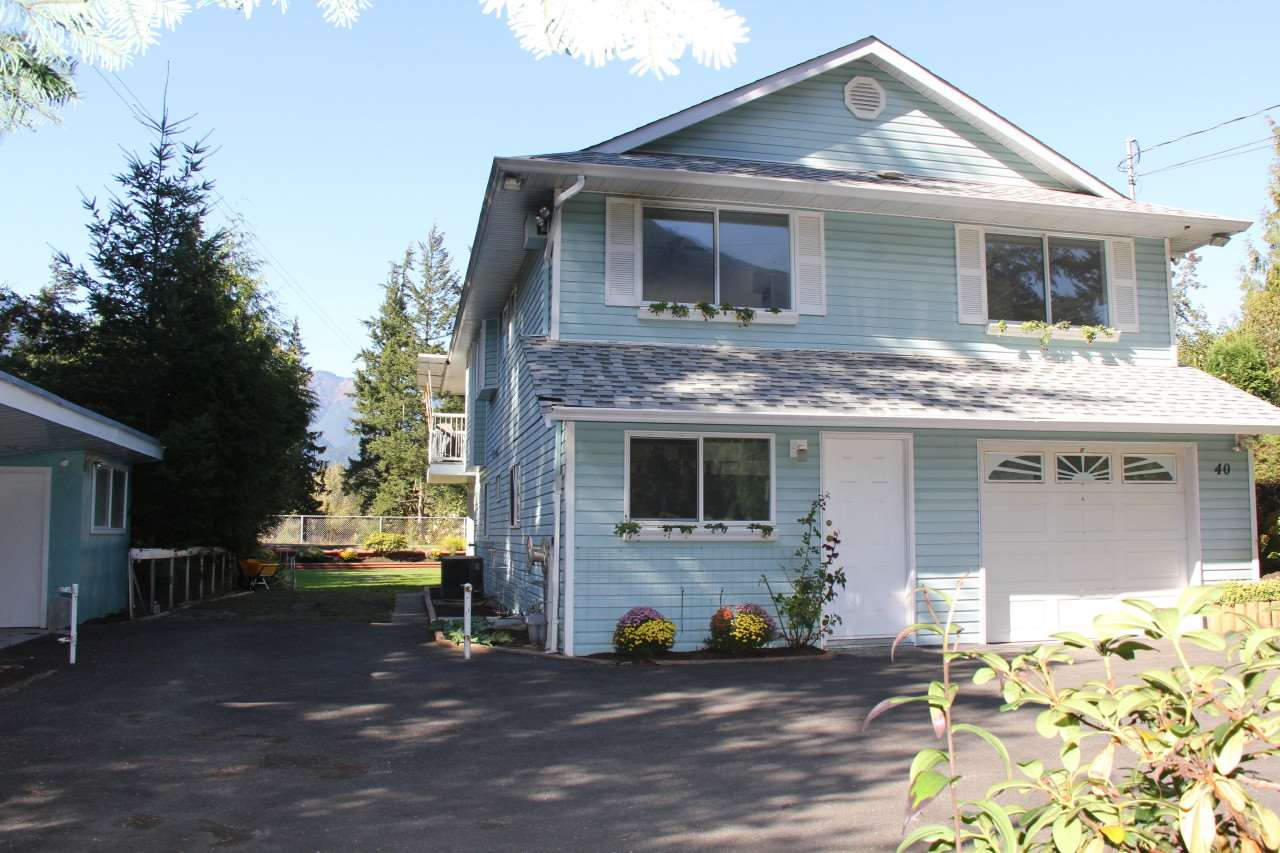 Coquihalla waterfront with majestic views of river & Mt Hope. Very rare rind, this home has a laundry on the main floor and a full inlaw suite below. Enjoy this private backyard from your 300 sq ft deck with patio below. Open layout home with many recent updates. Garage plus workshop as well as over 850 sq ft of covered storage space. All this on a huge 1/3 acre property. Cul-de-sac neighbourhood with centre park and field park.