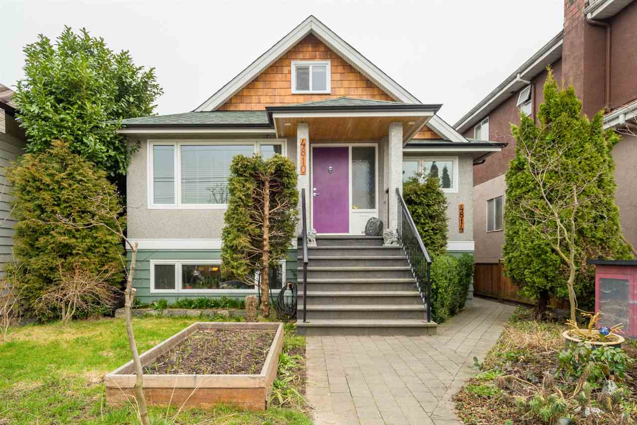 Be transplanted to Salt Spring in the lush yard of this renovated 1960?s home + laneway house - the perfect family or investor opportunity on a large, extra-deep lot ZONED FOR TOWNHOMES, steps to the skytrain, Norquay Elementary & w/ two revenue units. Original home has 4 bed/ 2.5 baths, w/ open kitchen w/ SS appliances/granite counters, spa-like master bath, reclaimed floors and 2nd level loft bdr + den w/ mountain views; beneath, a 2 bed/1 bath revenue suite. In the rear is an almost-new 920sf 2-level, 1-bdr. laneway home w/ own fenced yard (and licensed for day care). Main house has a new roof, on-demand HW, forced air; radiant heat in laneway. Ideal for a growing family needing extra revenue, or investor seeking cash flow & future development value. OH, Thurs, 5:30-7, Sat & Sun - 2-4pm