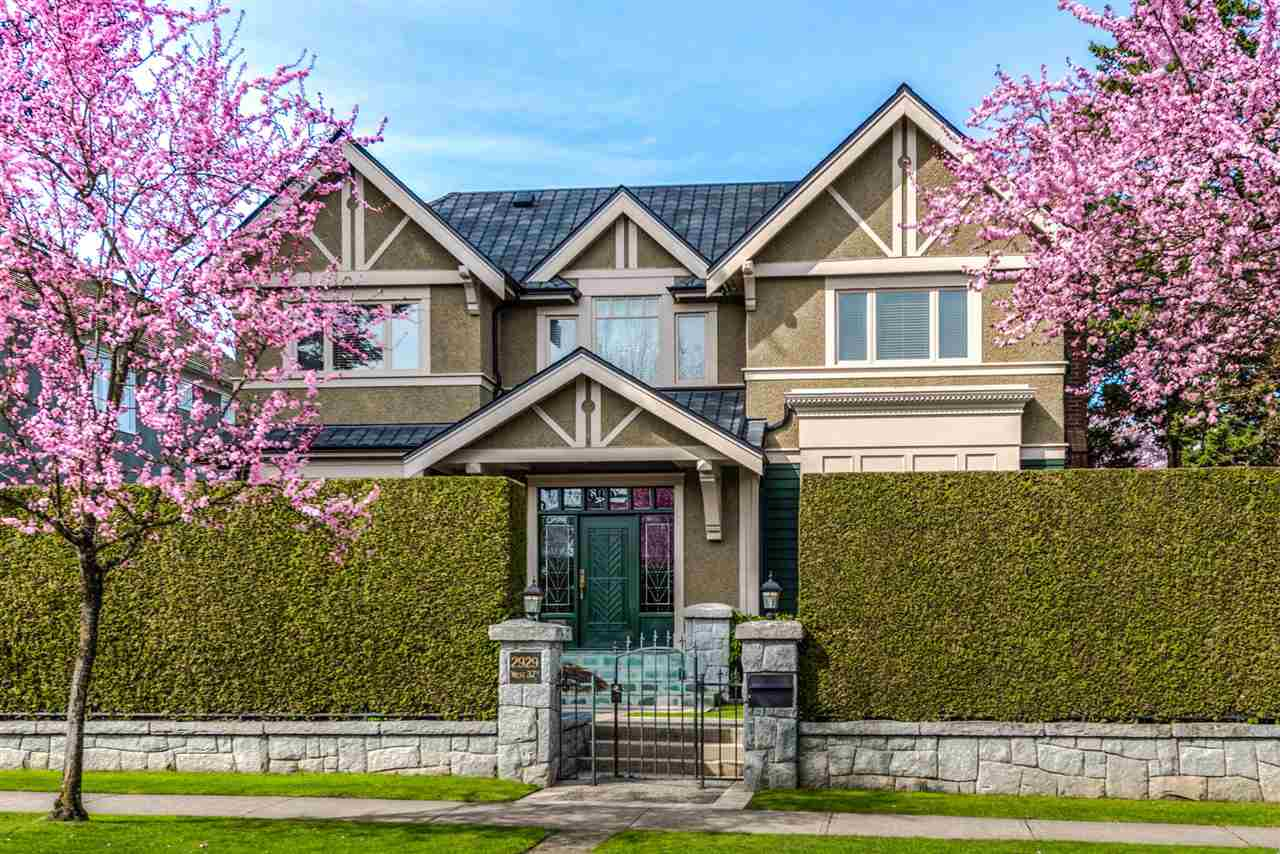 An elegant, well built and meticulously maintained family home on a south facing, over 9,600 SF lot in prime MacKenzie Heights. Soaring ceiling height at the grand foyer. Superb layout with den on Main, plus a total of 6 bedrooms and 5 with ensuites! Engineered hardwood floor, extensive use of mouldings & granite; chef's dream w/wok kitchen! Exquisite wet bar in rec room, fine acoustics and well equipped media room, spa inspired gym with sauna and steam room. Air-conditioned, hot water in-floor radiant heating with 8 zones, speakers system throughout, central vacuum, security system, huge covered back deck, newer roof with life time warranty on material and 5 remaining years on labour, 4-car garage and beautiful fenced yards. Walking distance to Crofton and minutes' drive to York House and St. George's. Close to shopping and fine dining in Kerrisdale & Oakridge. All viewings by appointments only.