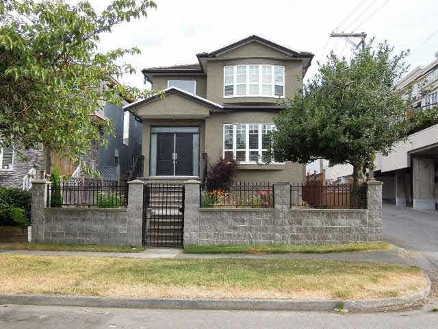 7-yrs, bright, spacious, beautiful S-facing new house on 33x121 lot at corner of W66/side lane. Close to UBC, Immaculate conditions! Flowerly landscape! Functional floor plan. Extensive use of granite on countertops, window sills & F/P. S/S appliances. Detailed crown mouldings, laminate H/W floor throughout! 6 BRs with ensuite, Master bedroom ensuite has separate shower stall. BR on main floor with 3-pcs powder room & laundry. 1 BR open concept basement with laundry&  separate entry can be mortgage helper. McKechnie Elementary & Magee High School. Steps to Granville street shopping, transit & restaurants.