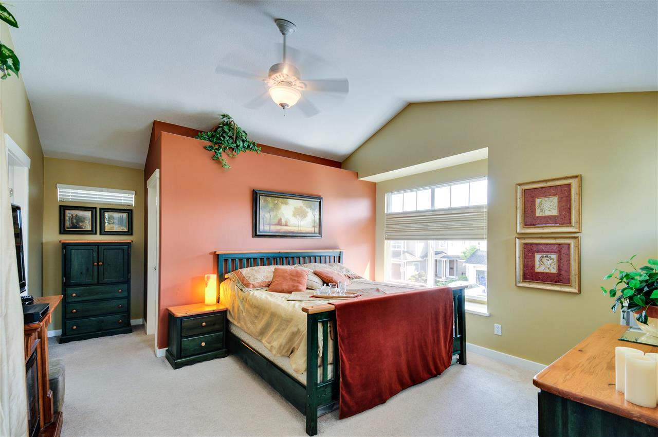 """Master Bedroom 13'10"""" x 12'9"""" with vaulted ceilings"""