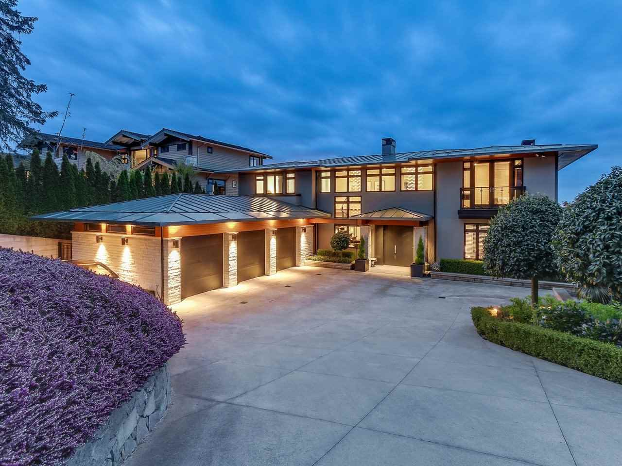 Modern custom built home with magnificent ocean views. Architect-designed and interior by Mitchell Freedland. Main floor offers an open plan with a chef-inspired kitchen, family & dining room with adjoining heated patio to take in the views. The finest construction quality throughout with attention to details & craftsmanship, geothermal heating/AC & metal roof, commercial grade steel foundation, integrated sound system. All Five luxurious bedrooms with en-suites. Amazing outdoor heated dining area with fireplace. Walking distance to Rockridge Secondary/Caufield Village. Short drive to Mulrgave & Collingwood and Park Royal Shopping.