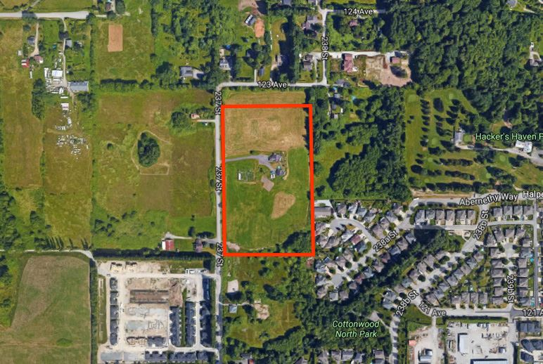 An excellent opportunity to own a 9.599 Acres Lot in Maple Ridge! A terrific investment potential. Close to golf course and Meadowridge private school. 23802 123 St (7.48 Acres) MLS: R2163047 adjacent lot is also available for sale.