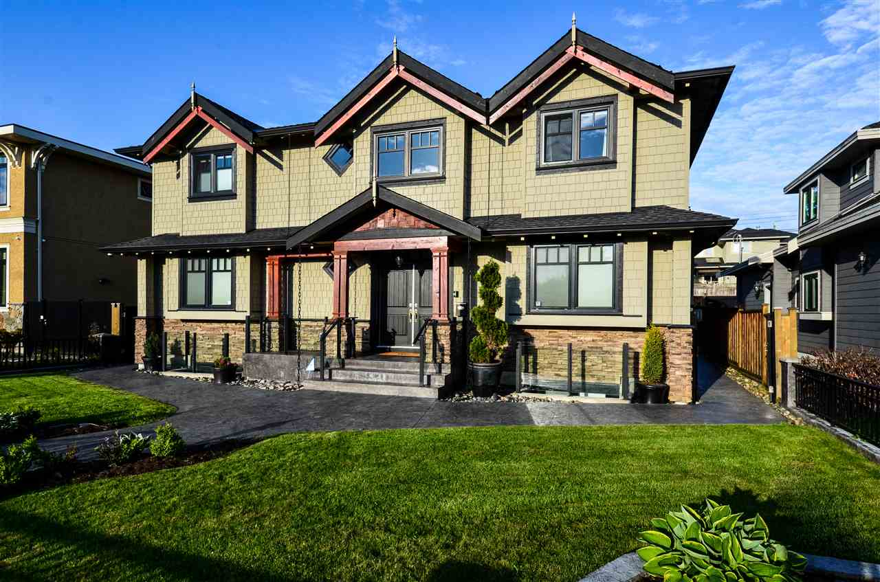 Exquisite Burnaby Hospital 6 yr. beauty on the high side of the street!  Custom designed 3 lvls shows like a display home w/ exceptional finishings; upstairs has 4 bdrms & 3 bths  incl. 5pc ensuite spa bth, main has gourmet kitchen w/ huge island, pro-series FISHER & PAYKEL s/s appliances & GE monogram fridge, dovetail drawers/cabinets plus a wok kitchen & bsmt. has 2?1 bdrm units w/ QUIETROCK sound reducing drywall.  This stunner has A/C, 2x6 framing, TJI construction, state of the are home automation controlling lights, gates, security cameras, heating & more thru b/i touch screens & cell phone, 3 laundries, Euroline tilt & turn windows & doors, sweep in & hide a hose vacuum, exterior boasts in-ground sprinkler system, private fenced front & back landscaped yards & more!