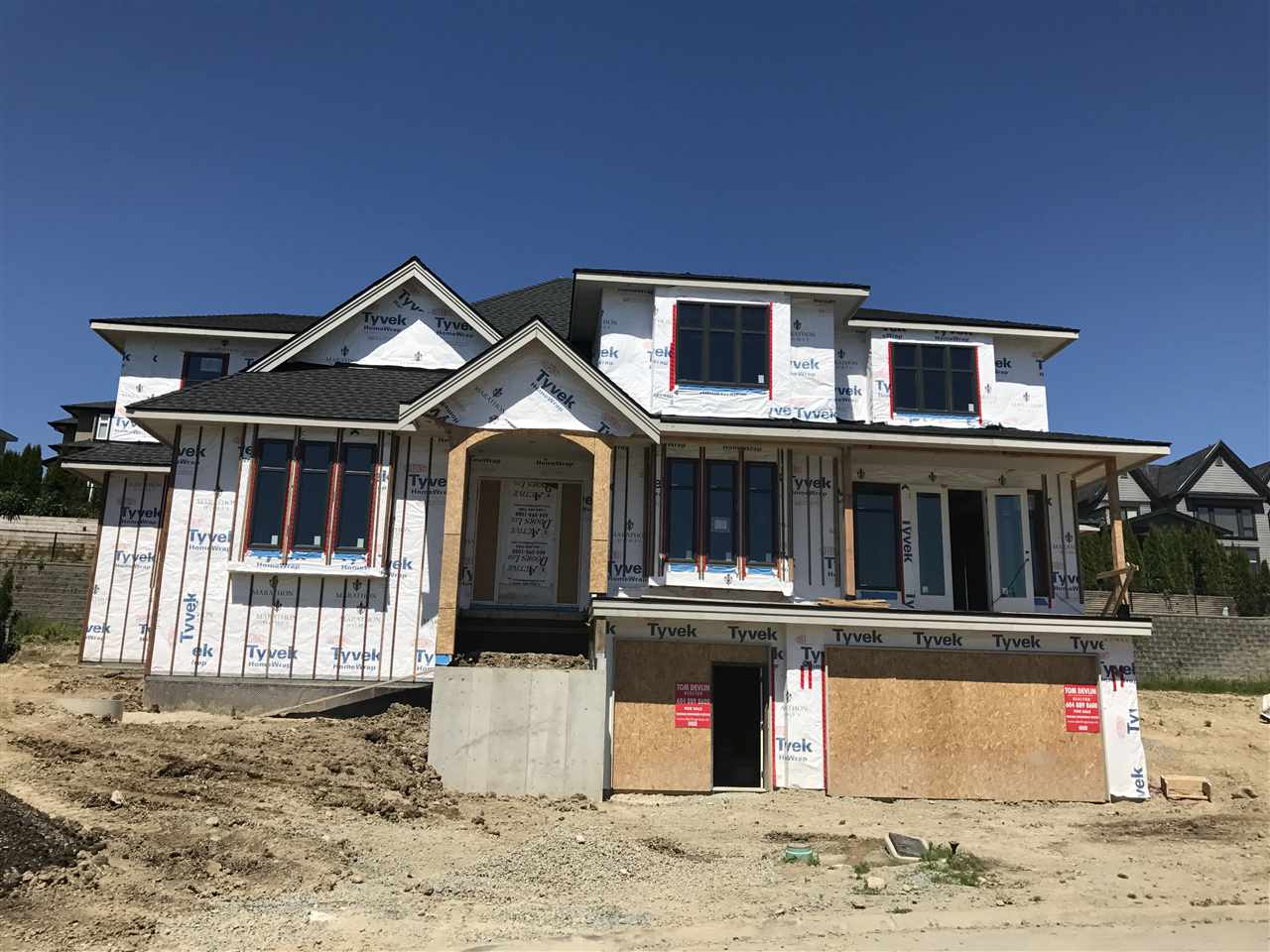 Brand New Home in West Cloverdale by Marathon Homes situated on a super quiet cul-de-sac. Executive custom built-west coast style by local builder. Features: 8 bdrm, 8bthrm, 6971 SF home on 12,056 SF lot,  Excellent Open floor plan, functional lay-out. Triple car garage + 4 cars parking. Call today and this fall you could be calling this home. House is currently under construction and time to pick your colors.