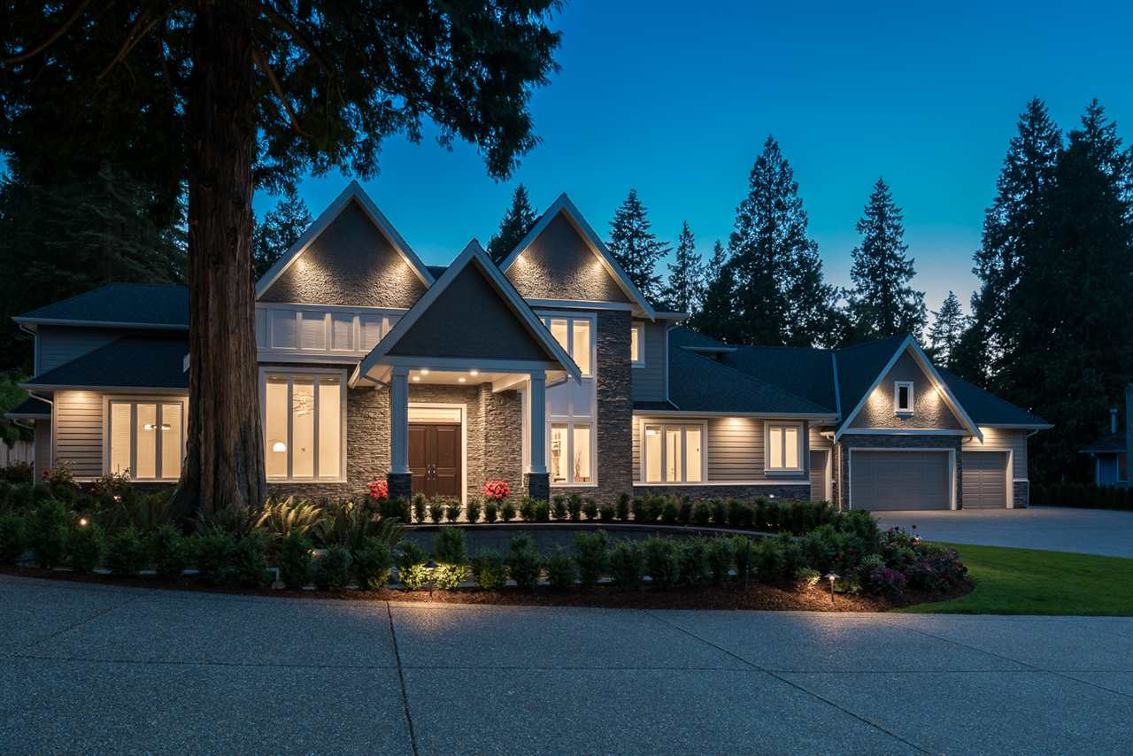 Extraordinary Family Estate in Prestigious White Rock area!! This modern luxury living space has a lot to offer: privacy, Crescent beach view in few minutes, park nearby. Built  in 2016 by reputable local builder. Exceptional quality and masterful design embodied in this 7 bdrms and 8 baths stunning home. Upper floor has four well-appointed bedrooms including an enormous sized master suite. Basement area offers cozy Theatre room with built-in speakers. Cedar sauna, gym, yoga room, entertaining bar area with stylish red brick wine cellar and fireplace add charm.Gorgeous gourmet kitchen  features white  quartz counter tops, spice kitchen and huge pantry. Lovely lighting in front and back, irrigation system, security camera, professionally landscaped. Video tour: https://youtu.be/s8hr0UfOdkg