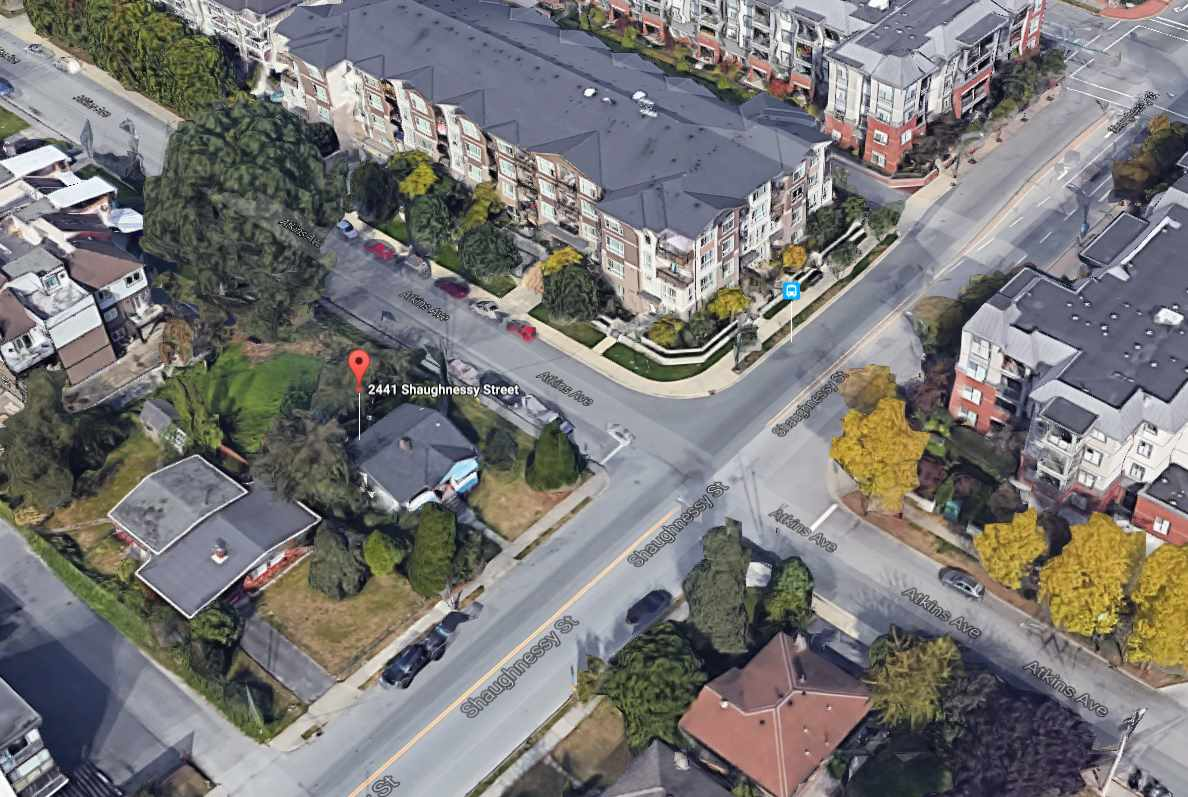 Developer Alert!!! A 8662 square foot site located in Downtown Port Coquitlam on Shaughnessy Street, designated as AH (high-density apartment) for a potential of 2.5 FSR. Long term tenants on a month to month tenancy with $1,800.00 per month rental income. (please do not disturb tenants).
