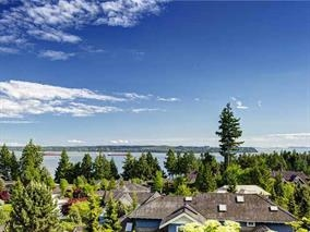 Breathtaking Ocean and City Views from sun soaked, high perched house on private cul-de-sac in quiet Caulfeild neighbourhood.  No wires or neighbours to block the view from this completely renovated cozy house with gorgeous kitchen with granite counters and stainless steel appliances.  Kitchen and both living and family rooms face bright blue ocean side.  One bedroom on main floor, two bedrooms on upper level, sunny terraced deck is great for entertaining, and the yard is easy to take care of.  Walking distance to both Caulfeild Elementary and Rockridge High schools and Caulfeild Village.  The beach and the highway are just driving minutes away. open house Sat. 17th 2:00-4:00