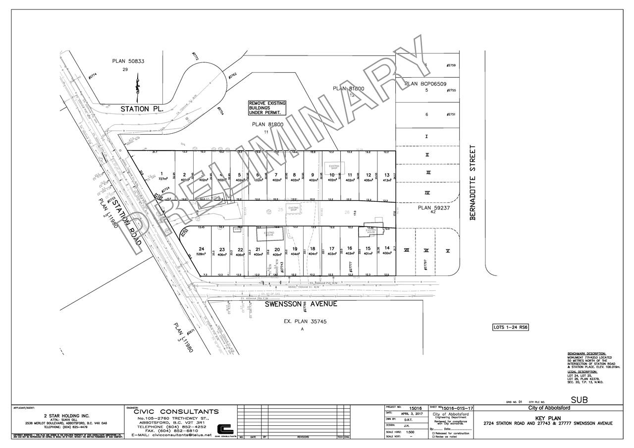 Looking for 20 -30 lot possible subdivision /investment? 1.1 Acre in highly sought after West Abbotsford, bordering Aldergrove . One of three properties to be sold together with ( 2724 Station and 27777 Swensson) with potential 20-30 lots based on a preliminary design and current OCP. Homes may be built with possible legal suites. Current Home is approx 1628 sq.ft. and rented for $1500 per month. Opportunity knocks!