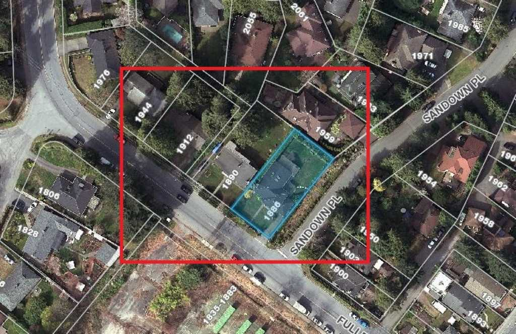 Land Assembly - This property may be sold together with 1890 & 1912 Fullerton Avenue. 3 lot parcel meets the zoning requirement for up to 1.2 FSR, 3 Storey Townhomes as per DNV Lower Capilano Marine Drive Village Plan. DNV may support a potential increase of FSR, with additional acquisition of neighbouring properties. Unbeatable gateway site: already one of the Northshore's most quick and convenient locations, minutes to Lion's Gate Bridge (crossing to Downtown) and West Vancouver. Quiet and connected to natural surroundings, next to Klahanie Park and Capilano River walkway. Get ahead of the trend with this well positioned, future residential site. The property's existing home has been well maintained - leverage as a solid and attractive rental property. Measurements are approx. and taken from tax report and to be verified by Buyers. Also listed as Comm Land C8013975.