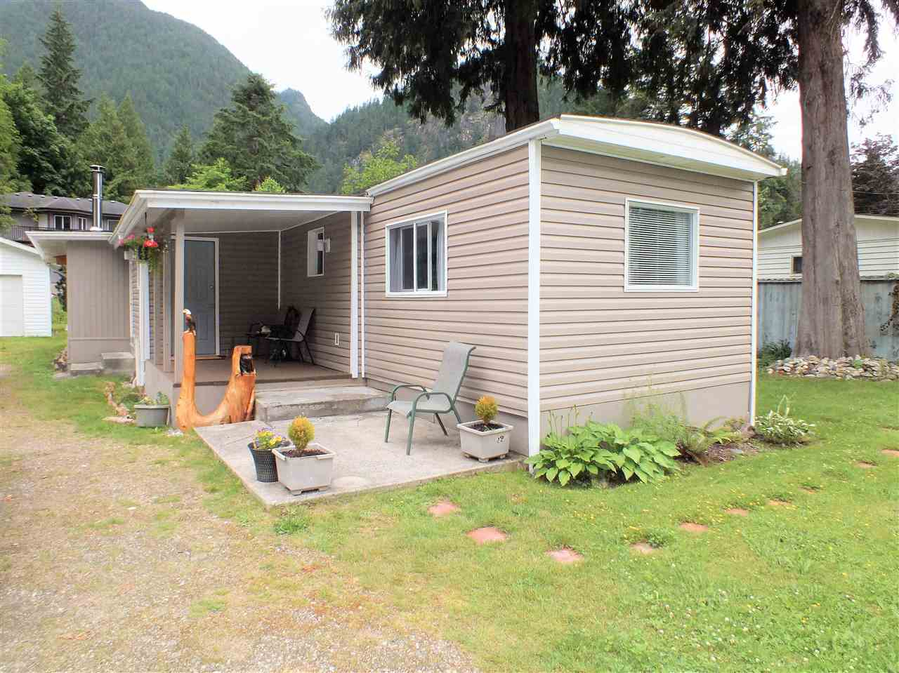 3 bdrm de-registered manufactured home w addition and detached 14' x 24' workshop. Located on private .21 acre lot this affordable charmer has very appealing modern finishings, quality appliances 1125 sq. ft. of living space and plenty of RV & vehicle parking. Workshop/garage is perfect for the hobbyist or backyard mechanic. Plenty of flat useable yard for the avid gardener or lots of room for kids.