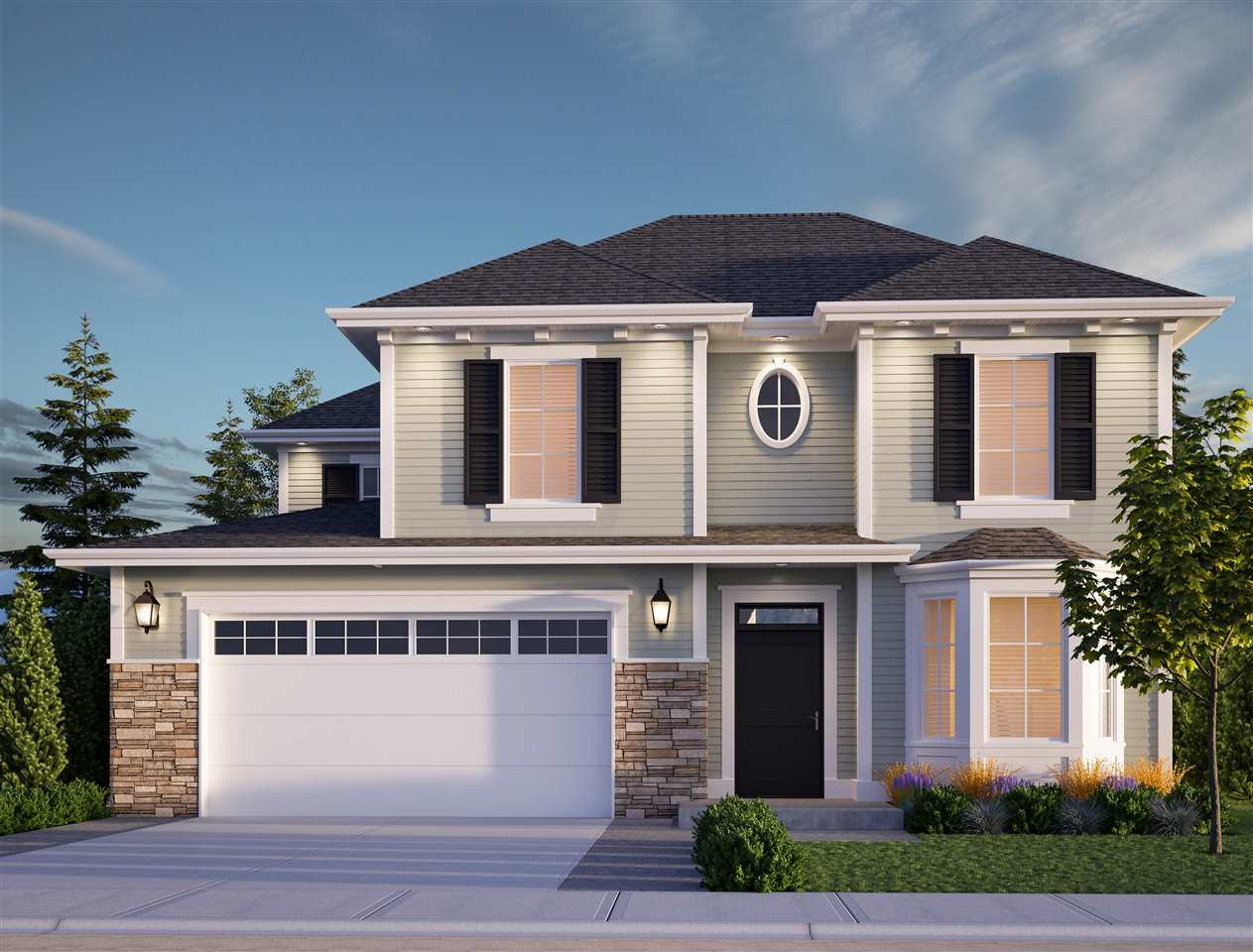 NEW @ WEBSTERS CROSSING! Coming in Spring 2018, this 3228 sq ft 4 bdrm/3 bath home is the place you'll want to call home. Featuring a TRIPLE CAR GARAGE, lovely fenced landscaped backyard, full driveway, and top notch finishing from top to bottom! Open concept kitchen w/ quartz counters, soft close cabinets, SS appliances, and coffered ceilings. Upstairs you'll find a bright loft + 3 large bdrms incl. master suite w/ 5 piece ensuite & walk in closet. FULL BSMT W/ SEPARATE ENTRY awaiting your finishing touches and ideas!  Two designer color schemes to choose from and time to pick colors should you choose!!! Walk to schools, parks, & the river!Call for more details and floorplans.