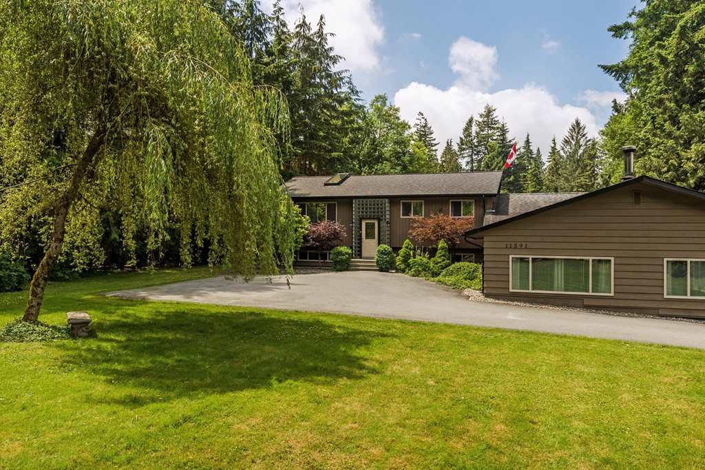 An absolute GEM,a very unique rancher with a basement & a split entry.A deep water well with uninterrupted water supply.Quiet neighbourhood on a bus route,close to a school, walking distance to Whonnock Lake;hiking,boating & swimming opportunities; 2 storey high workshop fit for a car buff;store your ATV, Boat, or Motor home.Ideal for a home business. Private corner property with 2 streets frontage.Beautifully landscaped land is  fully fenced. New vinyl window,skylights in the  kitchen, new window blinds,drapes and skylight shades;Master bedroom with a large walk-in closet opens up to a covered patio;oak kitchen cabinetry, a 7' kitchen island,combined with a huge dining room.Lower level offers 2 large bedrooms, opened study/office & high crawl space as a cold storage;  Massive living/ family room with a  bar is accessible from outside ; it has a high efficiency  wood stove. Looking for a long completion  or a rent back.Showings weekends only 10-4 - weather permitting; no night or extreme weather showings