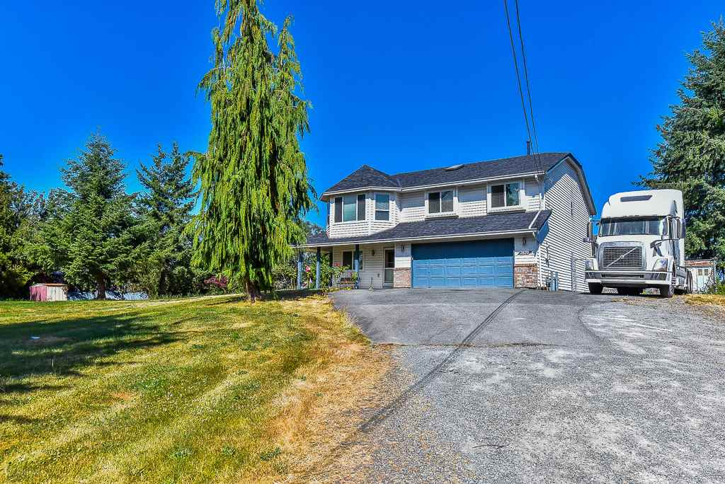 1 AC with subdivision potential in West Abbotsford. RENOVATED basement home, 3 bdrms on main. Large family room, gas fireplace, finished basement. Very nice area with BIG LOTS....